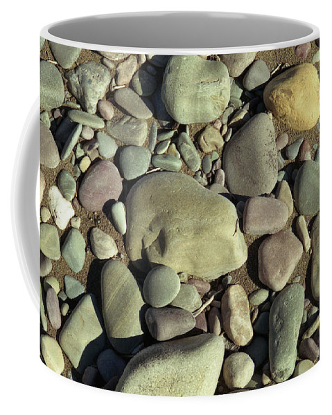 River Rock Coffee Mug featuring the photograph River Rock by Richard Rizzo