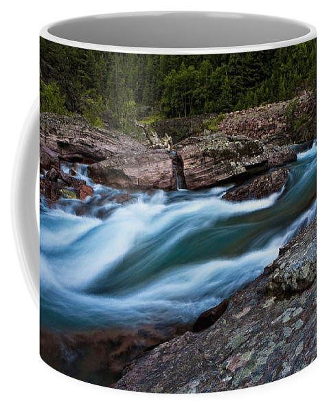 Nature Coffee Mug featuring the photograph River Rocks by John K Sampson