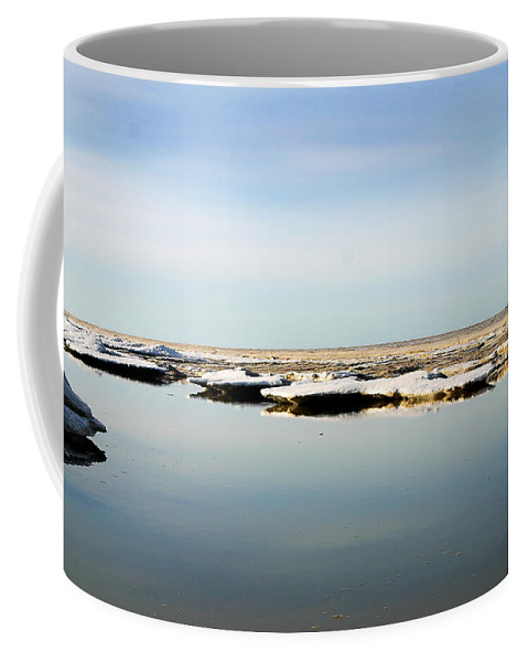 Ocean Coffee Mug featuring the photograph River To The Arctic Ocean by Anthony Jones
