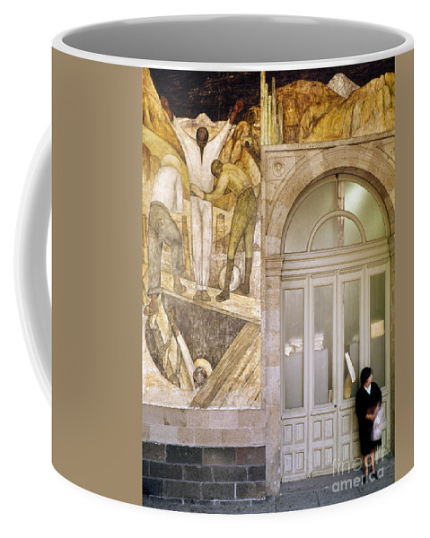 1920s Coffee Mug featuring the photograph Rivera: Leaving The Mine by Granger