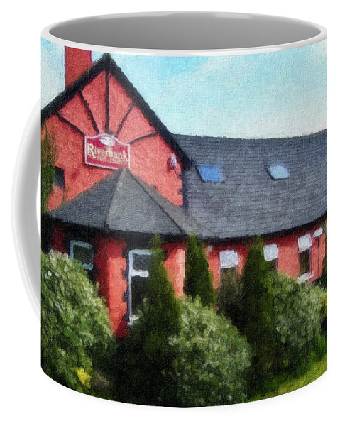 Ireland Coffee Mug featuring the painting Riverbank Restaurant Riverstown Ireland by Teresa Mucha