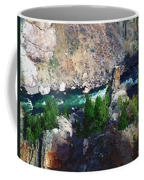 Black Canyon Coffee Mug featuring the painting Riverrun by RC DeWinter