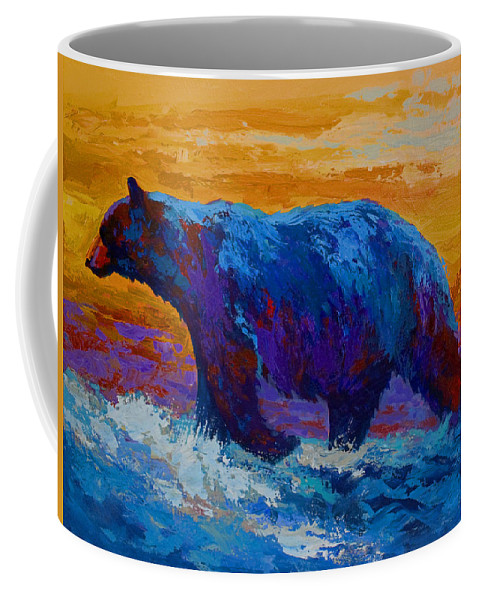 Bear Coffee Mug featuring the painting Rivers Edge I by Marion Rose