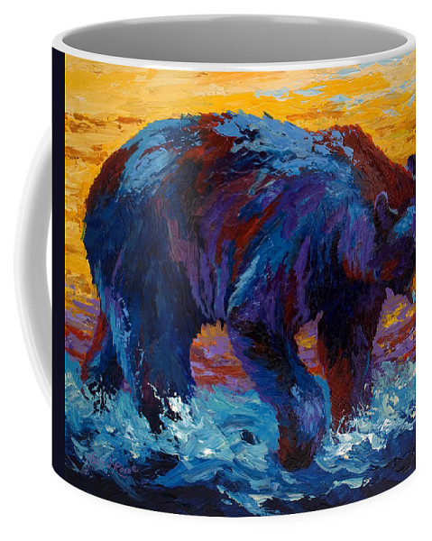 Western Coffee Mug featuring the painting Rivers Edge II by Marion Rose