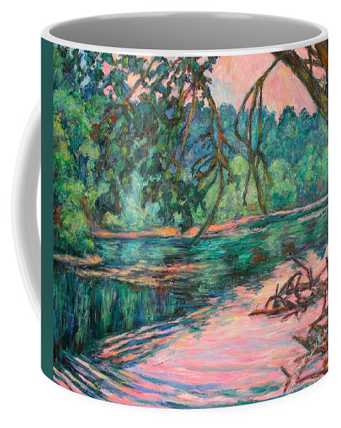 Riverview Park Coffee Mug featuring the painting Riverview at Dusk by Kendall Kessler