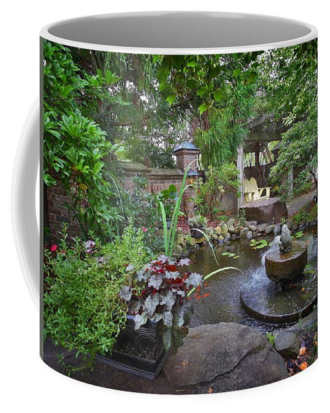 Nature Coffee Mug featuring the photograph Riverwood Coffee Shop Outside by Matt Taylor