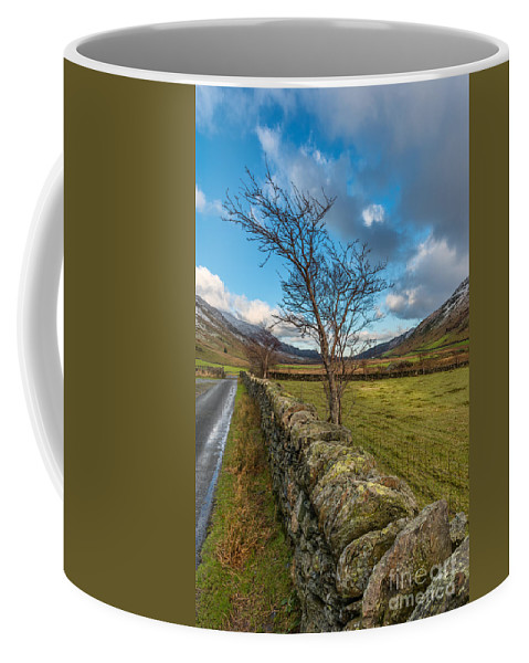 Snow Coffee Mug featuring the photograph Road Less Travelled by Adrian Evans