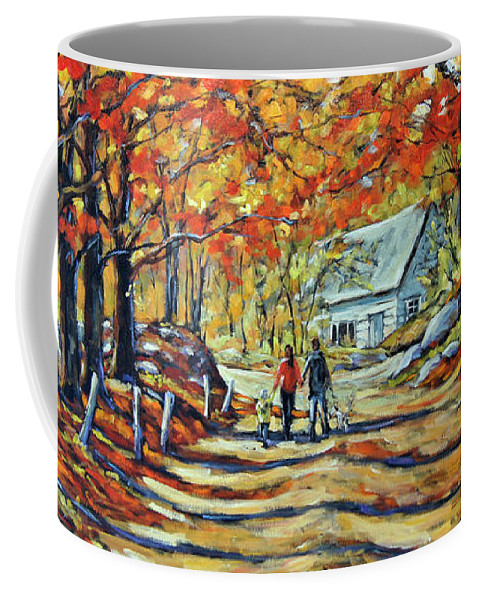 Art Coffee Mug featuring the painting Road Of Life Fine Art by Richard T Pranke