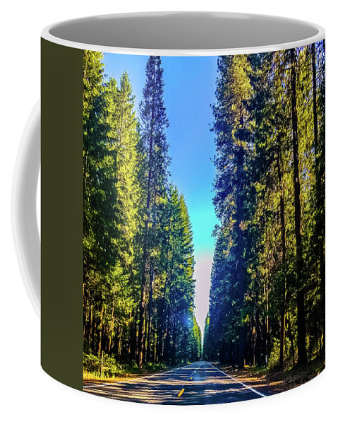 Road Coffee Mug featuring the photograph Road Through The Forest by Jonny D