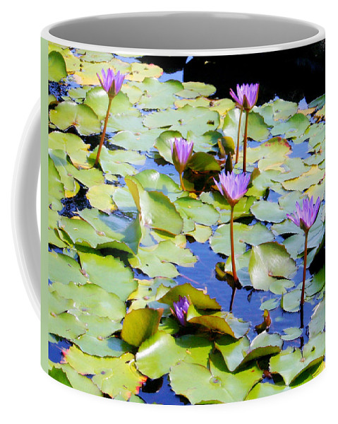 Water Lilies Coffee Mug featuring the photograph Road To Hana Water Lilies by Jane Merrit
