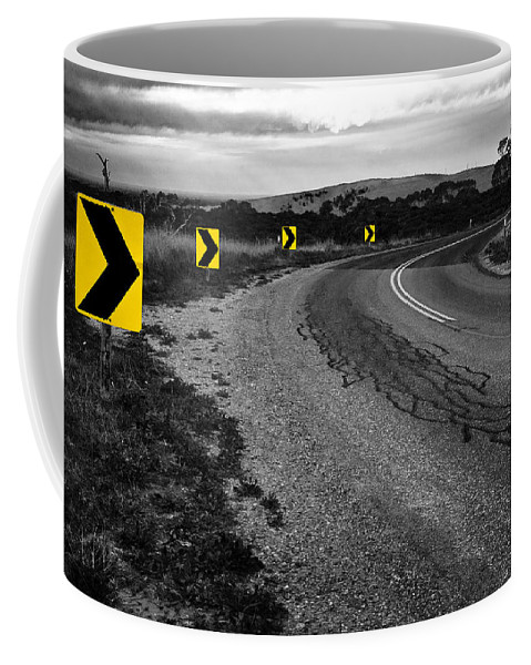 Road Coffee Mug featuring the photograph Road To Nowhere by Kelly Jade King