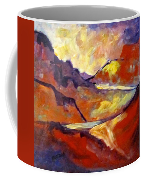 Valley Coffee Mug featuring the painting Road To Port William by Barbara O'Toole