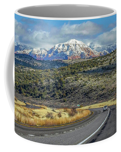 Sedona Coffee Mug featuring the photograph Road To Sedona by Will Wagner