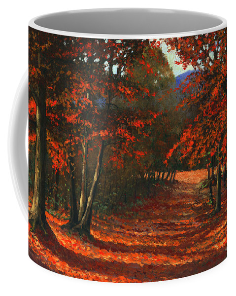 Landscape Coffee Mug featuring the painting Road To The Clearing by Frank Wilson