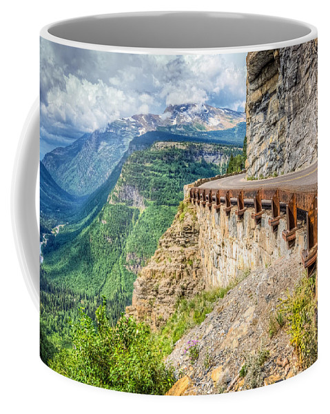 Montana Coffee Mug featuring the photograph Road To The Sun by Spencer McDonald