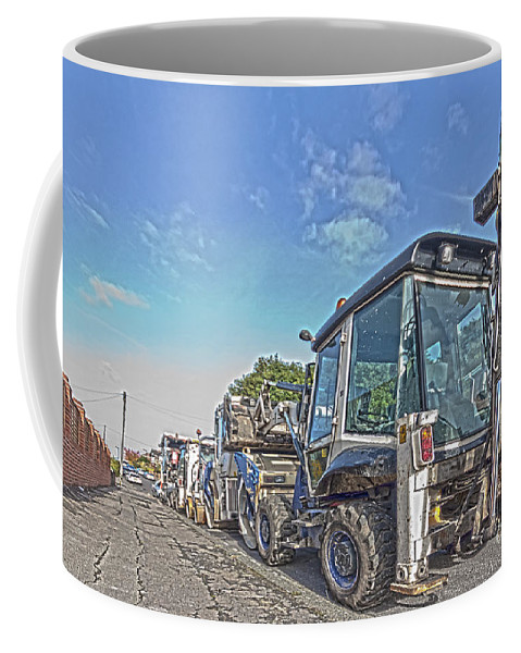 Mechanical Coffee Mug featuring the photograph Road Work Machines Hdr by Terri Waters