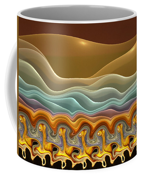 Fractals Coffee Mug featuring the digital art Roadrunner Races by Amorina Ashton