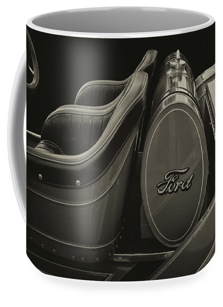 Ford Coffee Mug featuring the photograph Roadster Antiqued by Bill Dutting