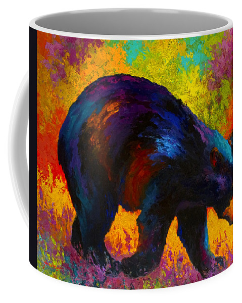 Bear Coffee Mug featuring the painting Roaming - Black Bear by Marion Rose