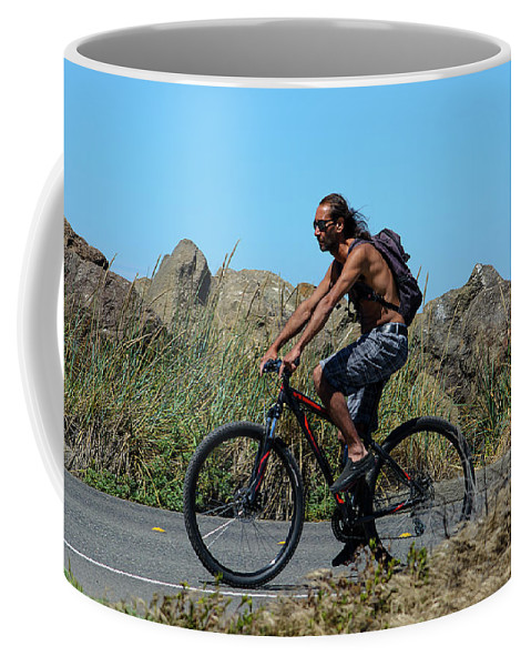 Bicyclist Coffee Mug featuring the photograph Roaming America by Tikvah's Hope