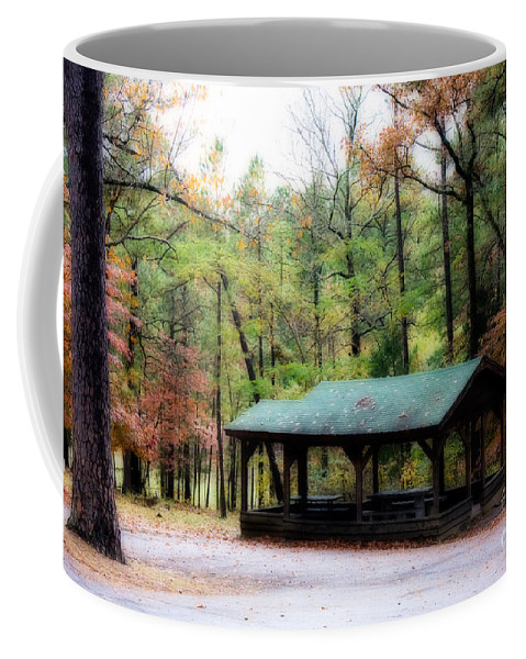 \robbers Cave\ Coffee Mug featuring the photograph Robbers Shelter by Lana Trussell