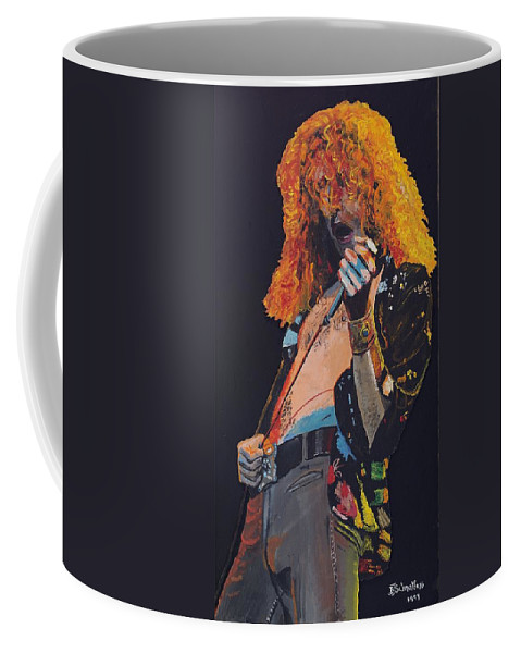 Robert Plant Coffee Mug featuring the painting Robert Plant by Bruce Schmalfuss