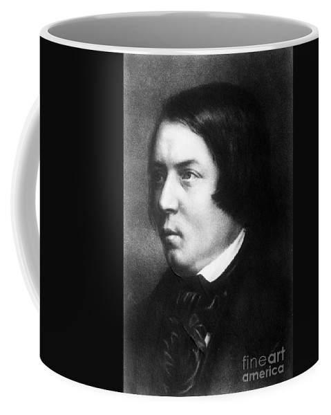 Fine Arts Coffee Mug featuring the photograph Robert Schumann, German Composer by Science Source