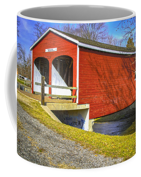 Ohio Coffee Mug featuring the photograph Roberts Covered Bridge by Jack R Perry