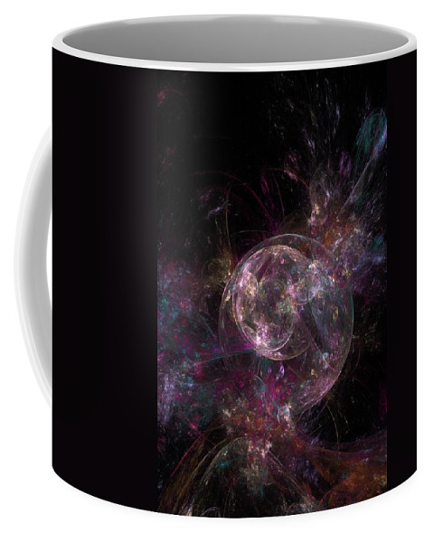 Fantasy Coffee Mug featuring the digital art Robot New Years Eve by David Lane