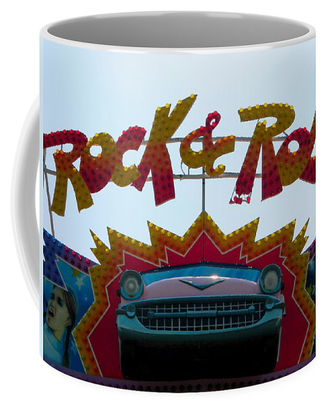 Sign Coffee Mug featuring the photograph Rock And Roll by Arlane Crump