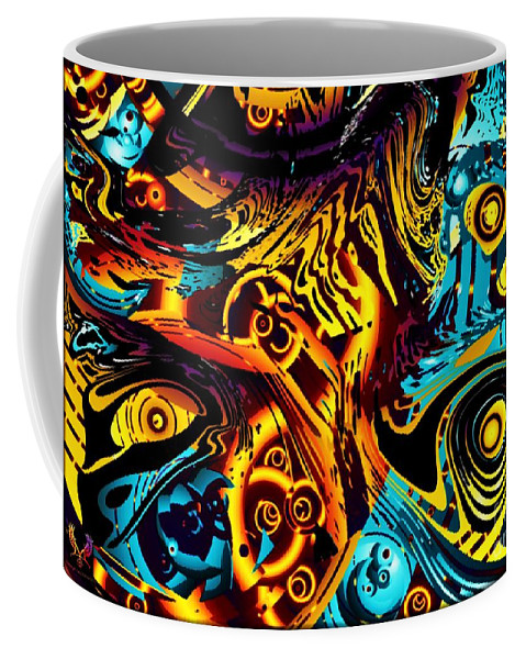 Colorful Coffee Mug featuring the digital art Rock And Roll by Dale Crum
