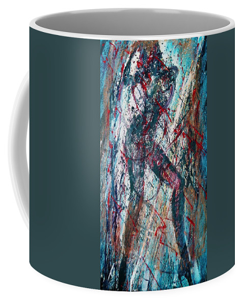 Beautiful Coffee Mug featuring the painting Rock And Roll by Jarmo Korhonen aka Jarko