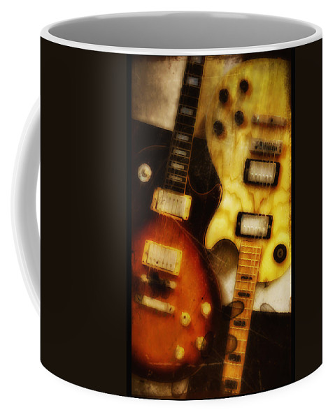 Les Paul Coffee Mug featuring the photograph Rock And Roll Never Forgets by Bill Cannon