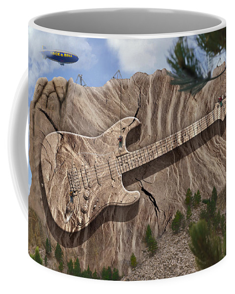Surrealism Coffee Mug featuring the photograph Rock And Roll Park 2 by Mike McGlothlen