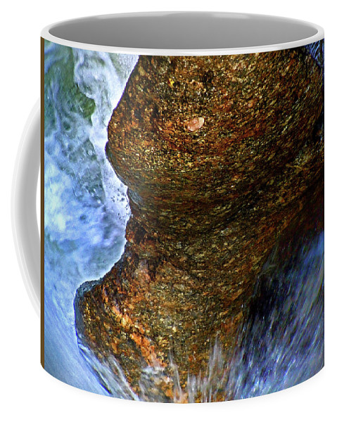 Sculptured Rocks Coffee Mug featuring the photograph Rock at Sculptured Rocks by Nancy Griswold
