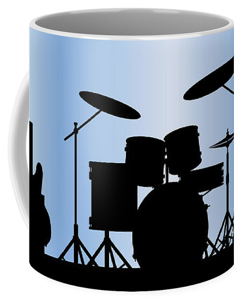 Rock Bandm Guitar Coffee Mug featuring the digital art Rock Band Equipment by Bigalbaloo Stock