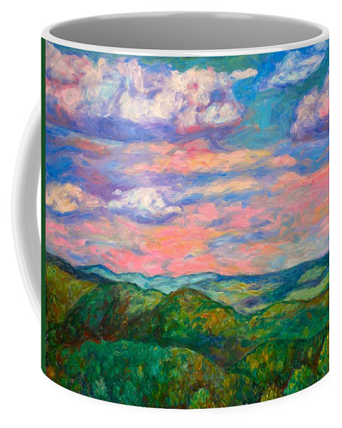 Landscape Paintings Coffee Mug featuring the painting Rock Castle Gorge by Kendall Kessler