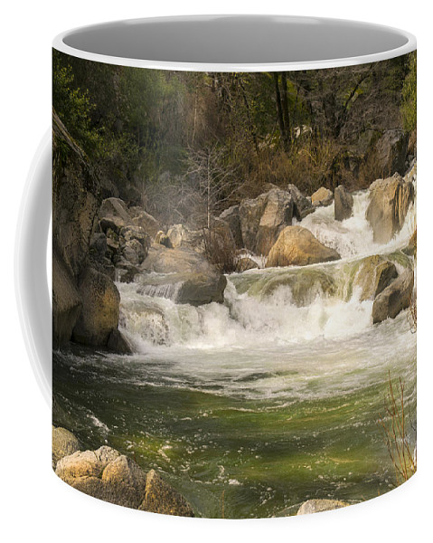 Rock Creek White Water Coffee Mug featuring the photograph Rock Creek White Water by Frank Wilson