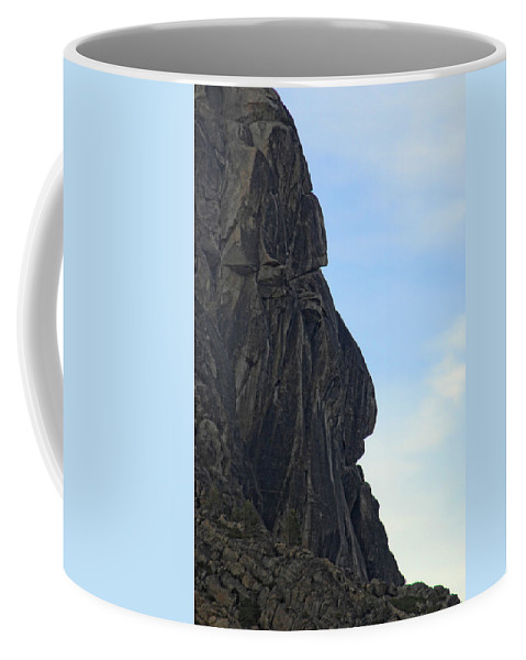 Rock Coffee Mug featuring the photograph Rock Face by Donna Blackhall