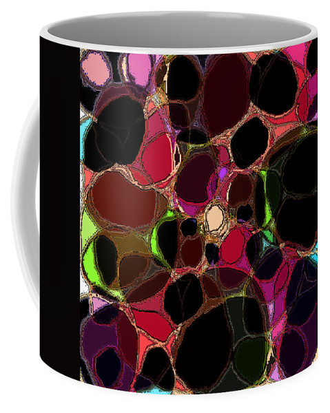 Abstract Coffee Mug featuring the digital art Rock Figment by Rachel Christine Nowicki