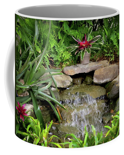 Rock Fountain Coffee Mug featuring the photograph Rock Fountain IIi by Zina Stromberg
