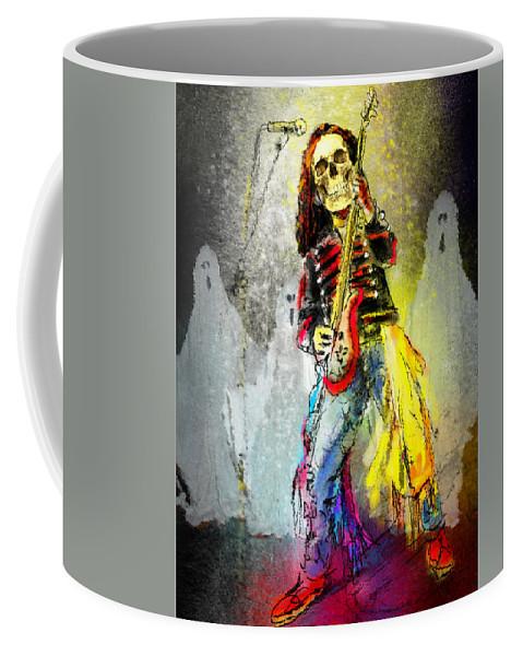 Halloween Coffee Mug featuring the painting Rock N Roll The Bones by Miki De Goodaboom