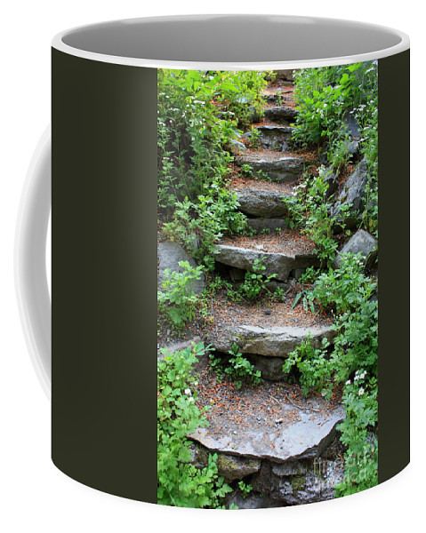 Rock Stairs Coffee Mug featuring the photograph Rock Stairs by Carol Groenen