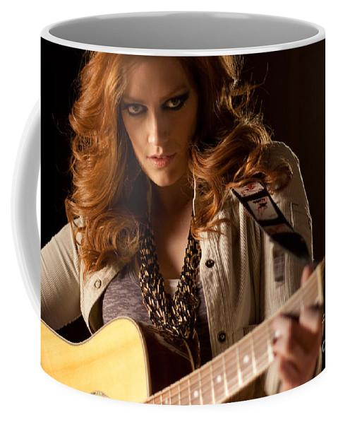Musician Coffee Mug featuring the photograph Rock Star by Kira Hagen