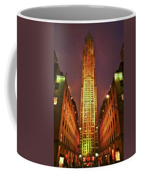 Building Coffee Mug featuring the photograph Rockefeller Center by Evelina Kremsdorf