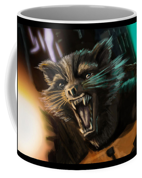 Movie Coffee Mug featuring the digital art Rocket And Groot by Michael Winer