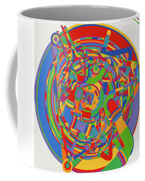 Rocket Coffee Mug featuring the painting Rocket by Janet Hansen