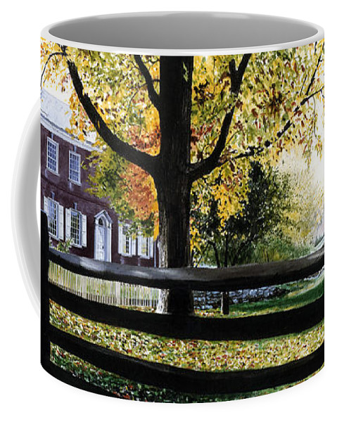 Lancaster County Pa Coffee Mug featuring the painting Rockford In Autumn by Denny Bond