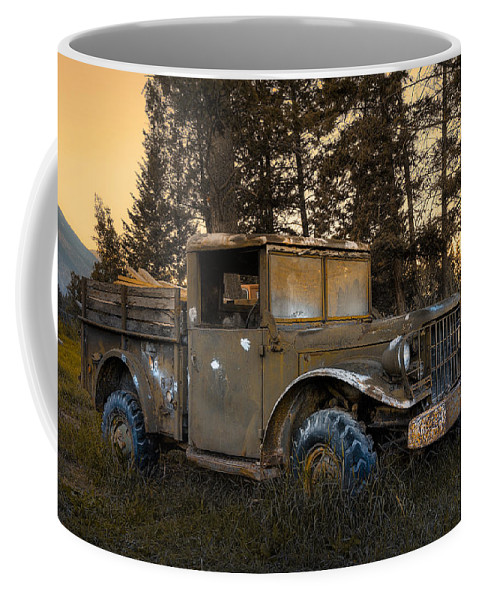 Rockies Coffee Mug featuring the photograph Rockies Transport by Wayne Sherriff
