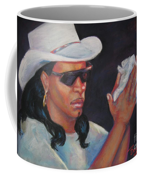 Rock In' Dopsie Jr. Coffee Mug featuring the painting Zydeco Man by Beverly Boulet